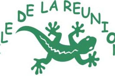 Autocollant stickers margouillat île de la Réunion 974