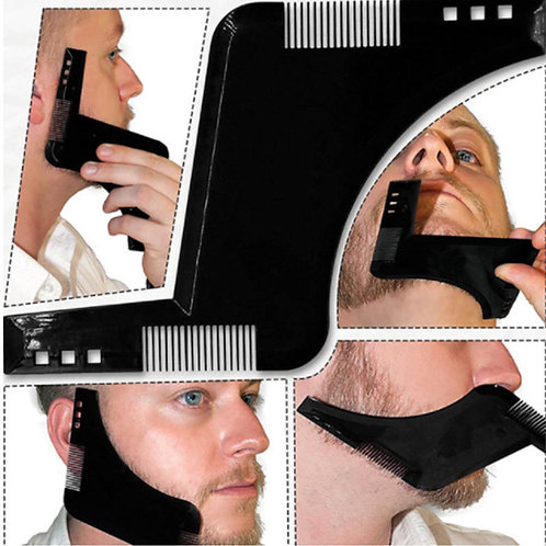 façonnage barbe,gabarit taille barbe,peigne a barbe,