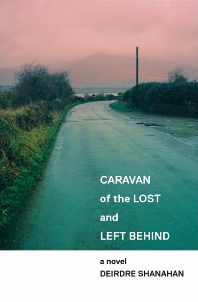 Irish landscape travellers mountain road wide-sky