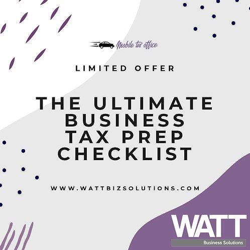 Business Tax Prep Checklist