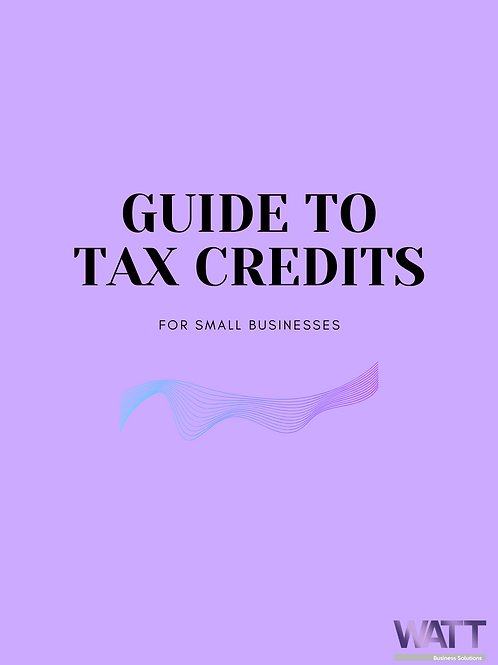 Small Business Guide To Tax Credits