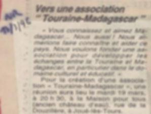 Touraine-Madagascar
