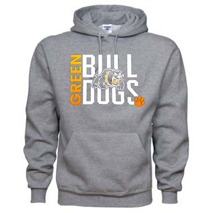 Green Bulldogs General Logo #12 Unisex Hoodie