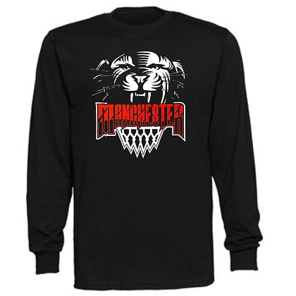 Manchester Panthers Basketball Logo #45 Unisex Long Sleeve T-Shirt