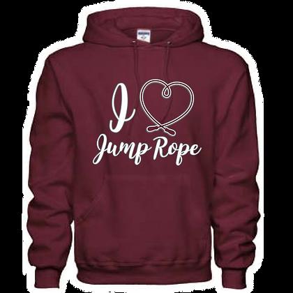 Gameday I <3 Jump Rope Unisex Hoodie