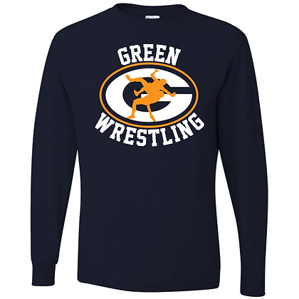 Green Bulldogs Wrestling Unisex Long Sleeve Tee Logo H
