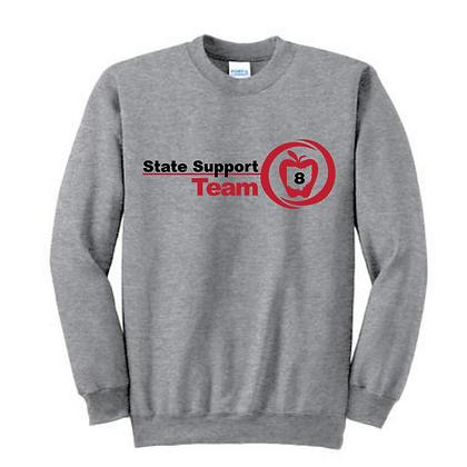 State Support Team Full Front Adult Crewneck Sweatshirt