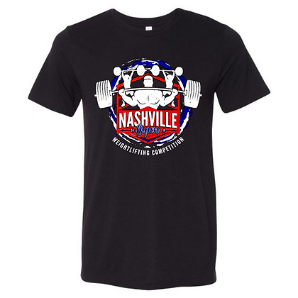 Nashville Open Weightlifting Competition 2019 Unisex Triblend T-Shirt