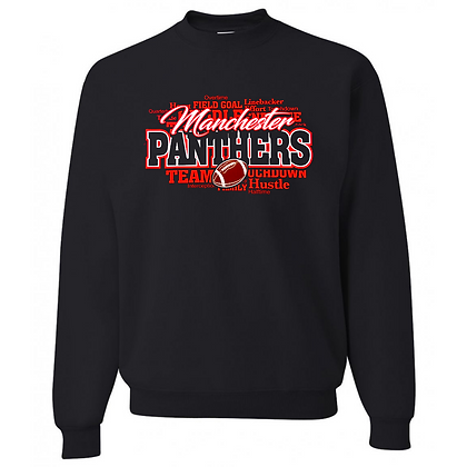 Manchester Panthers Football Logo #57 Unisex Crew Neck Sweater