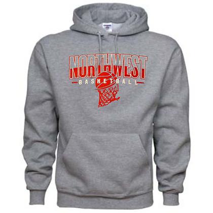 Northwest Indians Basketball Logo #34 (Red) Unisex Hoodie