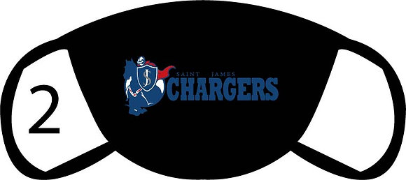 Chargers Large Logo Face Mask