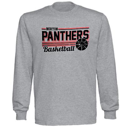 Norton Panthers Basketball Logo #37 Unisex Long Sleeve T-Shirt