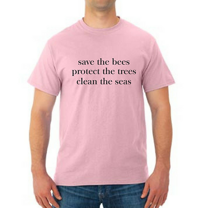Tree Tee Save the Bees Adult Unisex T-Shirt