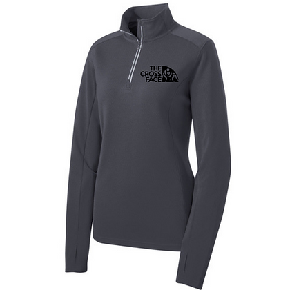 Ladies OAC Embroidered The Cross Face (Black) 1/4 Zip