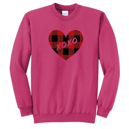 XOXO Heart Unisex Cotton blend Crewneck