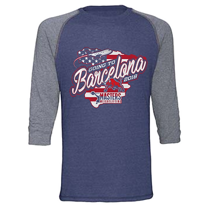 USA Masters Weightlifting Going to Barcelona Team Baseball T-shirts