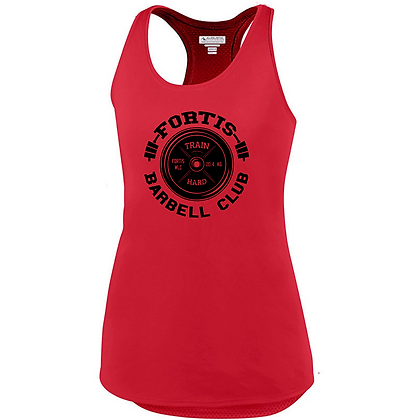 Fortis Weightlifting Barbell Club Logo C (Black) Ladies Tank