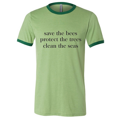 Tree Tee Save the Bees Ringer T-shirt