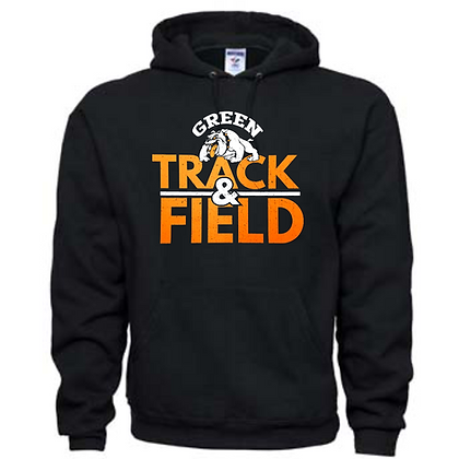 Green Bulldogs Track Logo #54 Unisex Hoodie