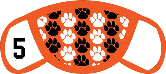 Green Fundraiser Paws Face Mask