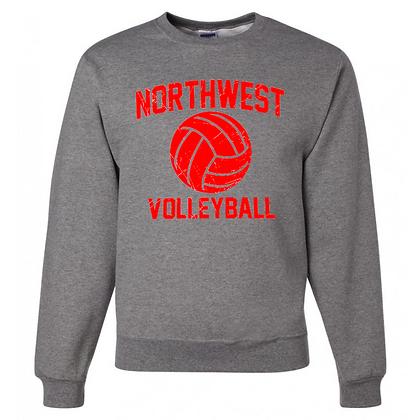 Northwest Indians Volleyball Logo #73 Unisex Crew Neck Sweater