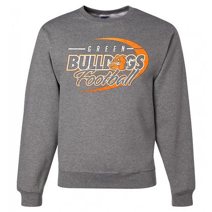 Green Bulldogs Football Logo #43 Unisex Crew Neck Sweater