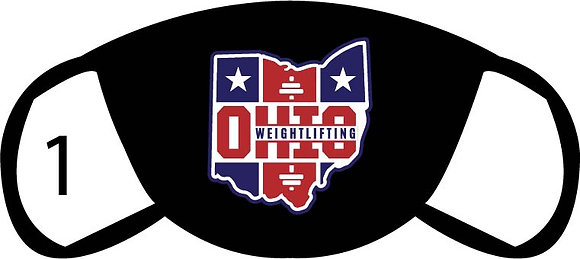 Ohio Weightlifting Face Mask