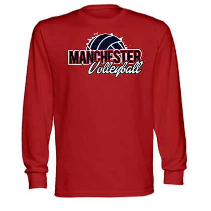 Manchester Panthers Volleyball Logo #84 Unisex Long Sleeve T-Shirt