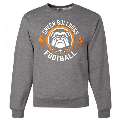 Green Bulldogs Football Logo #40 Unisex Crew Neck Sweater