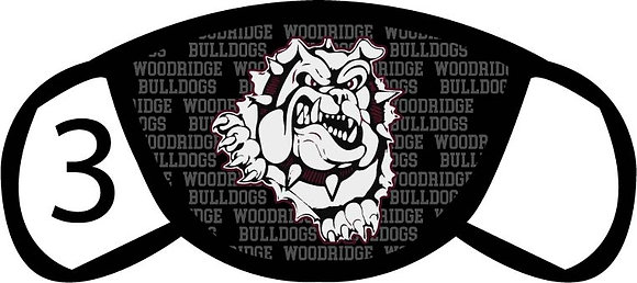 Woodridge Bulldogs Face Mask