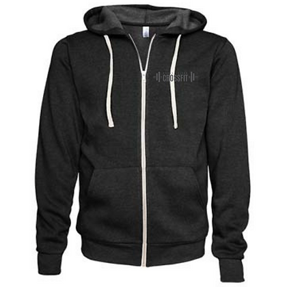 Canal Fulton Crossfit Left Chest (Gray) Unisex Zip Hoodie