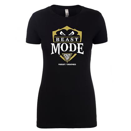 Pursuit of Greatness Beast Mode Ladies Scoop Shirt