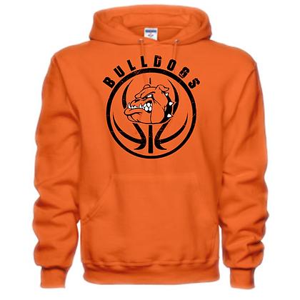 Green Bulldogs Basketball Logo #27 Unisex Hoodie