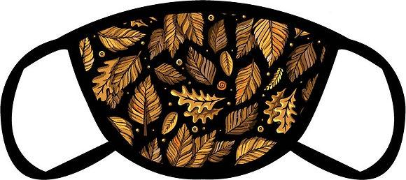 Dark Leaves Face Mask