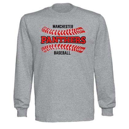 Manchester Panthers Baseball Logo #32 Unisex Long Sleeve T-Shirt