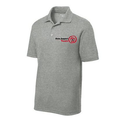 State Support Team Embroidered Men's Polo