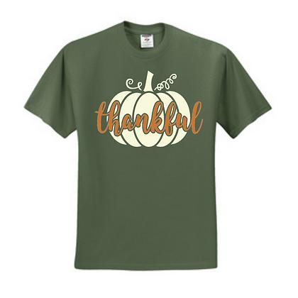 Copper Foil Thankful with Pumpkin Unisex T-Shirt