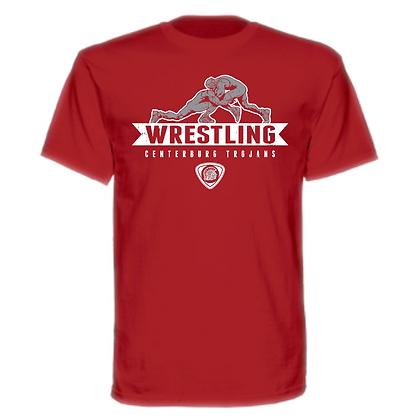 Centerburg Trojans Wrestling Red Unisex T-Shirt