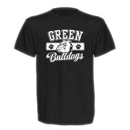 Green Bulldogs General Logo #1 Unisex T-Shirt