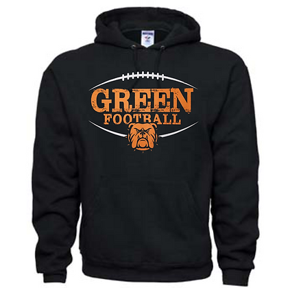 Green Bulldogs Football Logo #41 Unisex Hoodie