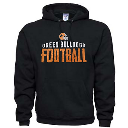 Green Bulldogs Football Logo #42 Unisex Hoodie