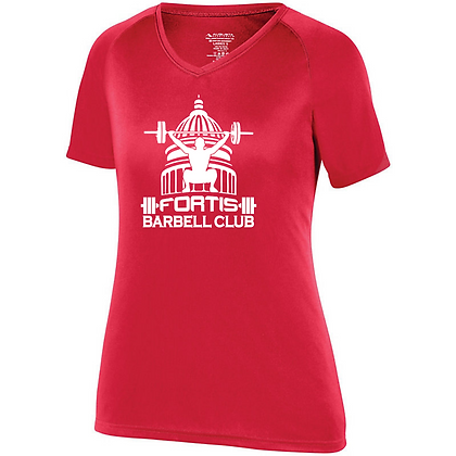 Fortis Weightlifting Barbell Club Logo (White) Women's Compression Shirt