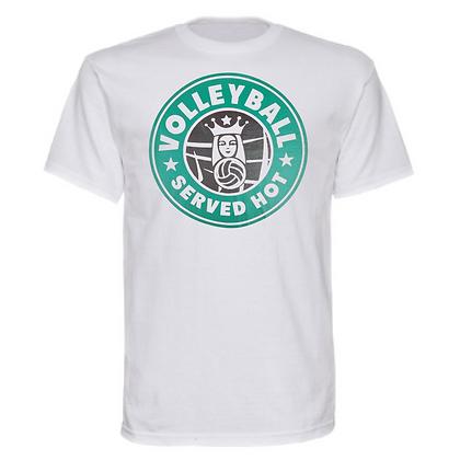 Gameday Sportswear Volleyball Served Hot (Black) Unisex T-Shirt