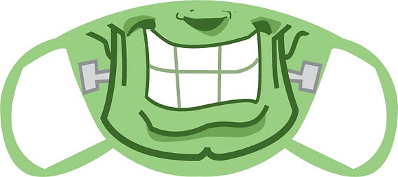 Frankenstein's Monster Close Up Face Mask