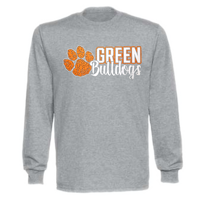 Green Bulldogs General Logo #5 Unisex Long Sleeve T-Shirt