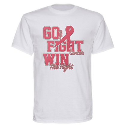 Go Pink Fight Cancer Win The Fight Breast Cancer Awareness Unisex T-Shirt