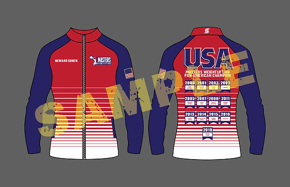 Masters Weightlifting PanAm Unisex Jacket With Years