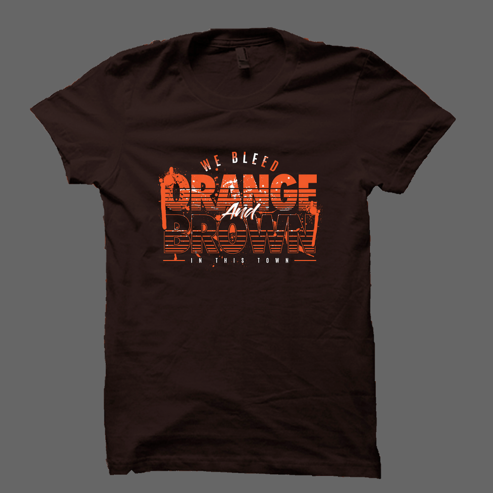We Bleed Orange And Brown T-Shirt