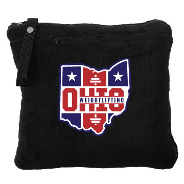 Ohio Weightlifting Embroidered Travel Blanket/Pillow