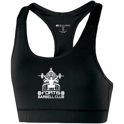 Fortis Weightlifting Barbell Club (Black Logo) Womens Bra